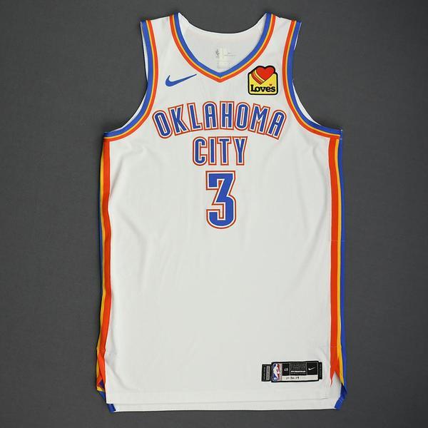 Image of Chris Paul - Oklahoma City Thunder - Game-Worn Association Edition Jersey - Scored Team-High 21 Points - 2019-20 NBA Season