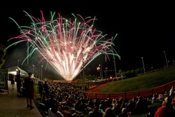 Photo of Hillsboro Hops On-Field Fireworks Viewing