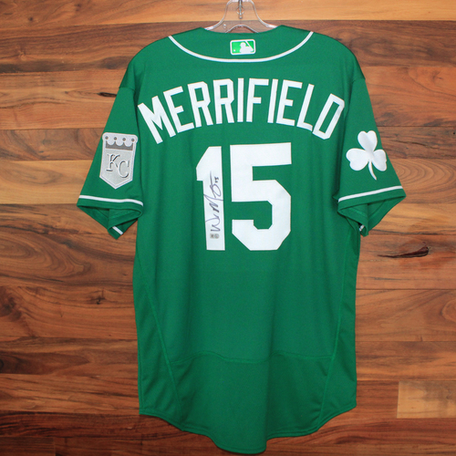 Photo of Autographed St. Patricks Day Jersey: Whit Merrifield (Size 44)