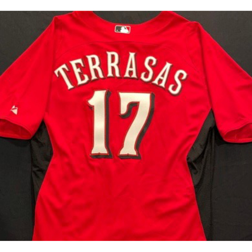 Photo of TERRASAS -- Authentic Reds Jersey -- $1 Jersey Auction -- $5 Shipping -- Size 46 (Not MLB Authenticated)
