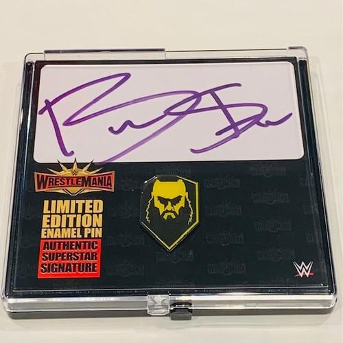 Braun Strowman SIGNED WrestleMania 35 Logo Pin