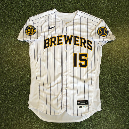 Photo of Tyrone Taylor 2020 Team-Issued Home Pinstripe Jersey