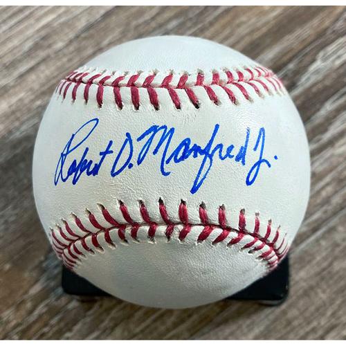 Photo of UMPS CARE AUCTION: Robert Manfred Jr. Signed Baseball