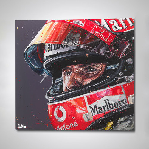 Photo of Michael Schumacher Helmet Hand Embellished Canvas - Paul Oz Artwork