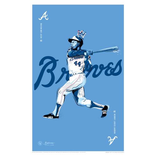 Photo of Hank Aaron - Braves Art in the Park Poster by Britt Davis
