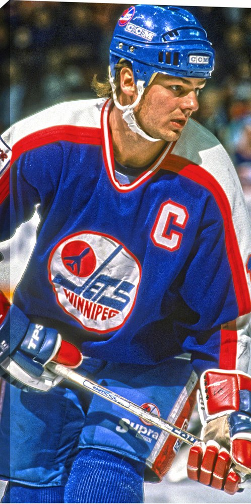 Dale Hawerchuk - 14x28 Hockey Hall Of Fame Canvas - Winnipeg Jets