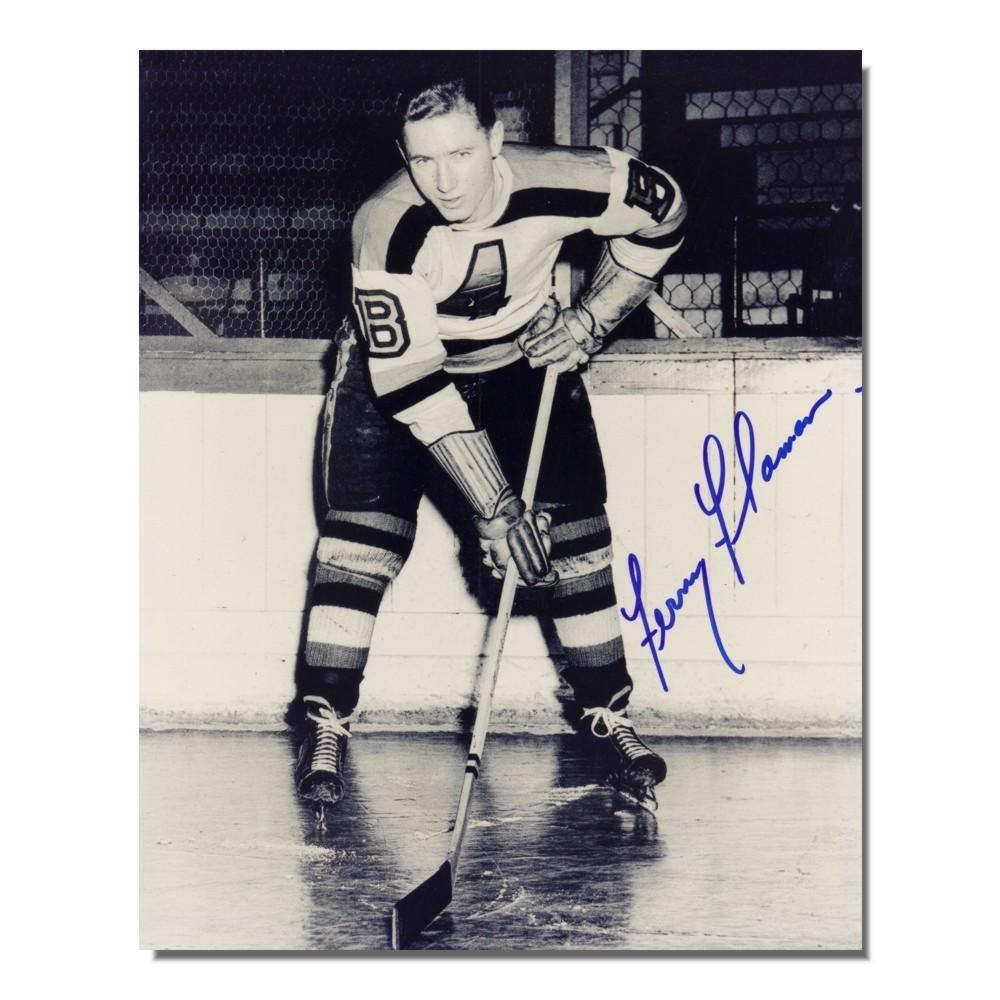 Fernie Flaman (deceased) Auotgraphed Bostons Bruins 8x10 Photo