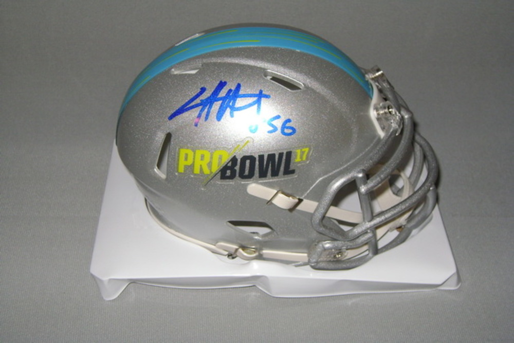 NFL - SEAHAWKS CLIFF AVRIL SIGNED 2017 PRO BOWL MINI HELMET