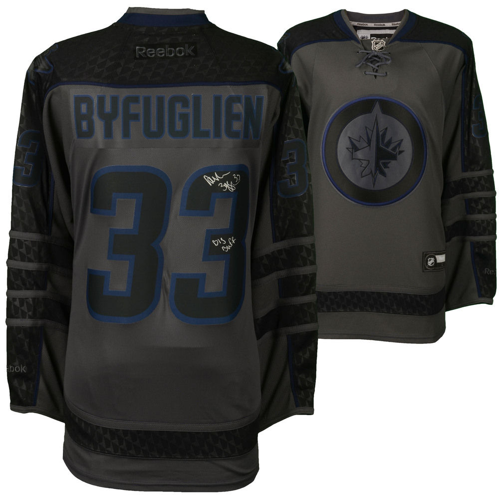 Dustin Byfuglien Winnipeg Jets Autographed Reebok Cross Check Premier Jersey with Big Buff Inscription