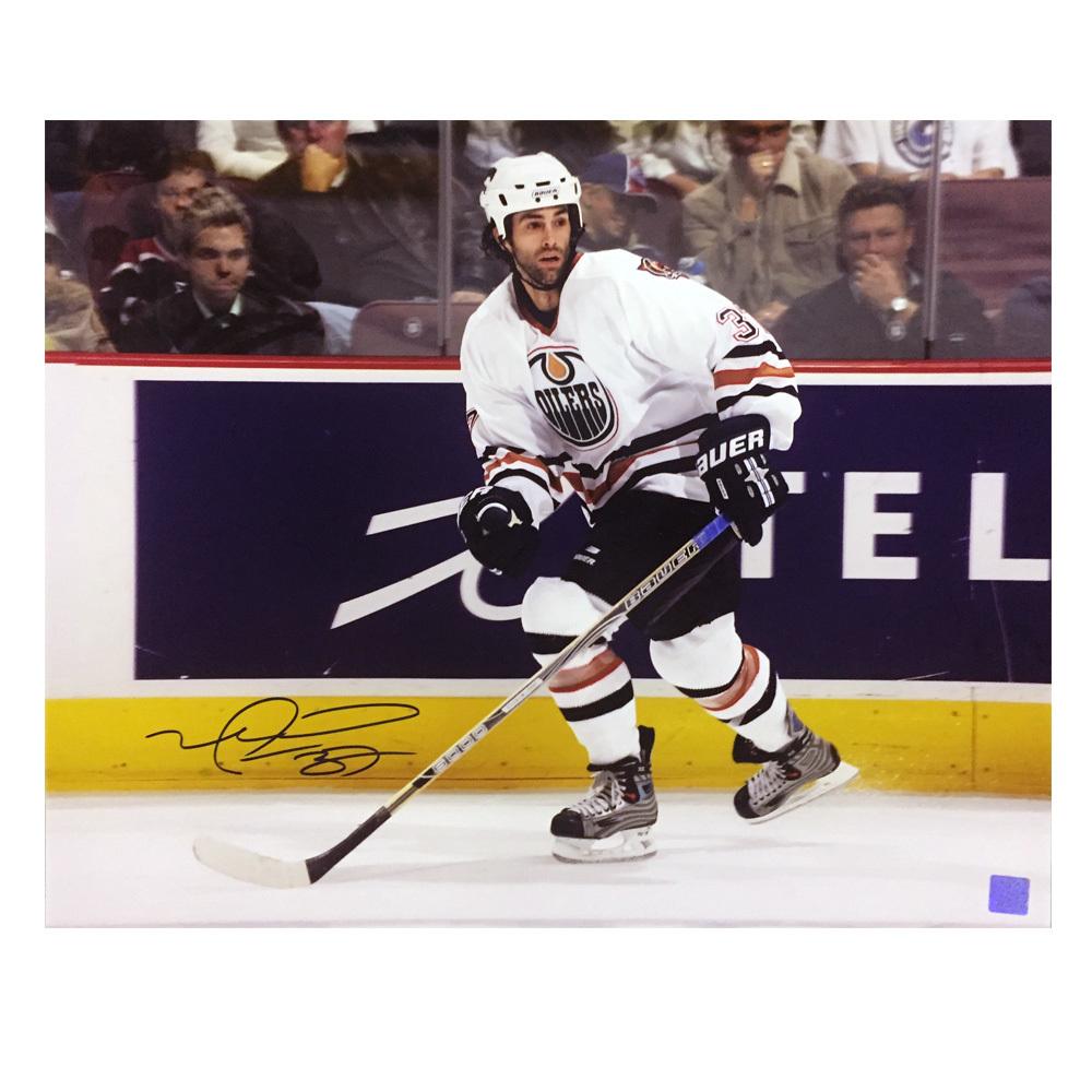 MICHAEL PECA Signed Edmonton Oilers 16 X 20 Photo