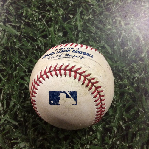 Photo of Game-Used Baseball CIN@MIL  09/28/17 - Sal Romano - Brett Phillips: Single