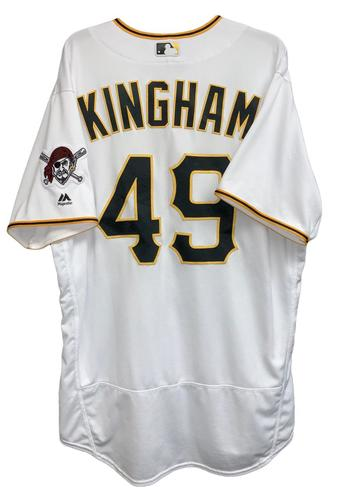 Photo of Nick Kingham 2018 Game-Used Jersey - 5.2 IP, 8 H, 3 ER, 4 SO