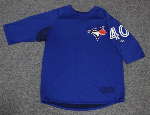 Photo of Authenticated Team Issued Batting Practice Jersey - #40 Pete Walker. Size L.