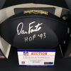 HOF - Chargers Dan Fouts Signed Commemorative Black Hall of Fame Football