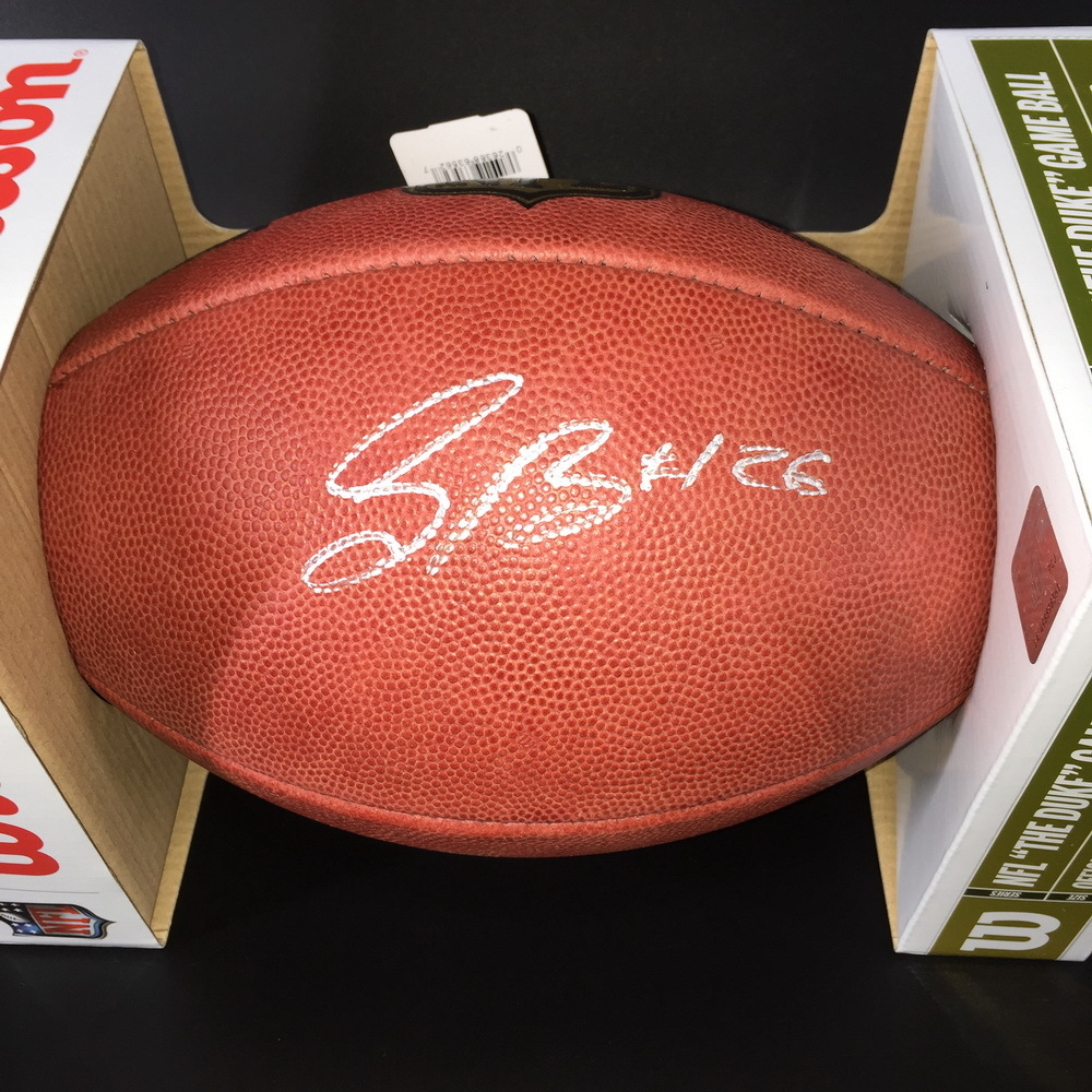 NFL - GIANTS RB SAQUON BARKLEY SIGNED AUTHENTIC 'DUKE FOOTBALL  W/#26 INSCRIPTION