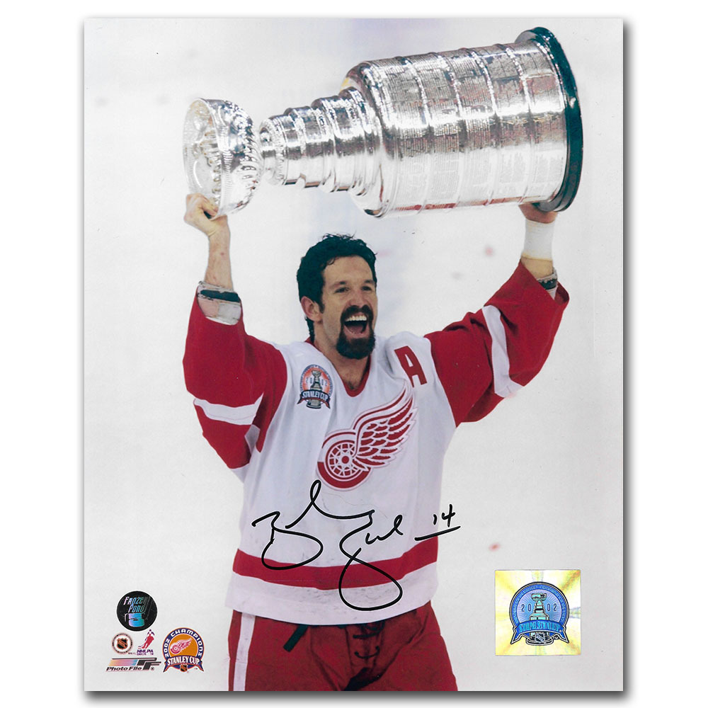 Brendan Shanahan Autographed Detroit Red Wings Stanley Cup 8X10 Photo