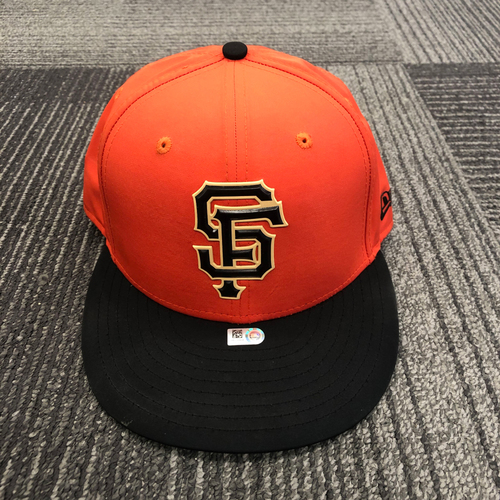 Photo of 2018 Team Issued Batting Practice Cap - 2x All Star #35 Brandon Crawford - Size 7 3/8