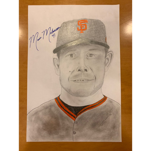Photo of Giants End of Season Auction: Mark Melancon Autographed Portrait Sketch