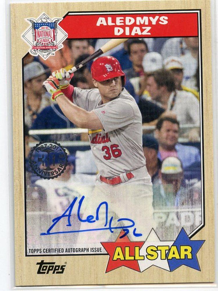 2017 Topps '87 Topps Autographs #1987AADI Aledmys Diaz S2