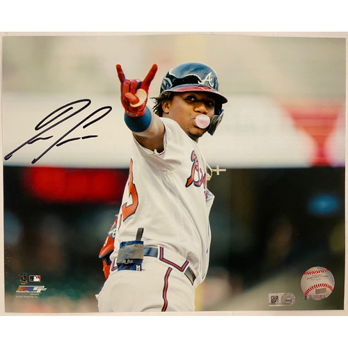 Photo of Ronald Acuna, Jr. Autographed Photo with Bubble