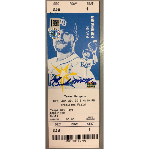 Photo of Rays Baseball Foundation: Brendan McKay Autographed MLB Debut Game Ticket - June 29, 2019 v TEX