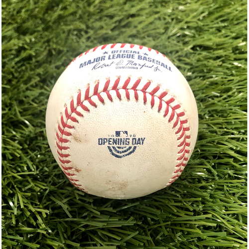 Photo of 2020 Opening Day: Game-Used Baseball: Max Scherzer Strikeout of Aaron Judge