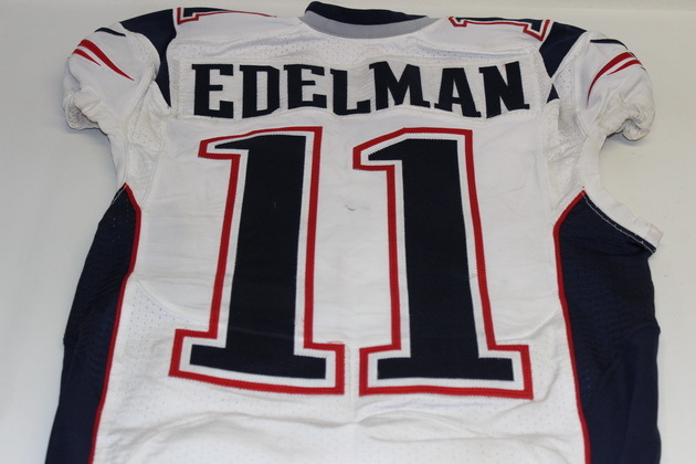 brand new d4a14 3fb15 julian edelman game worn jersey