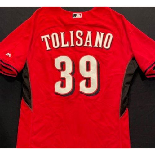 Photo of TOLISANO -- Authentic Reds Jersey -- $1 Jersey Auction -- $5 Shipping -- Size 46 (Not MLB Authenticated)