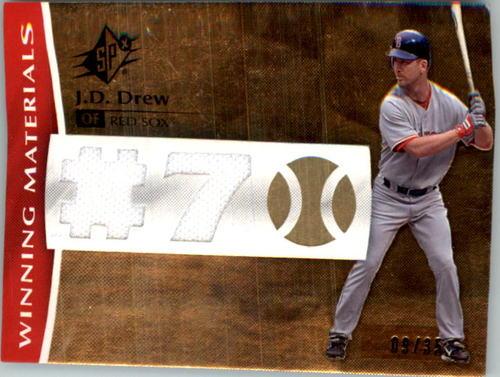 Photo of 2008 SPx Winning Materials Dual Jersey Number #JD Jermaine Dye