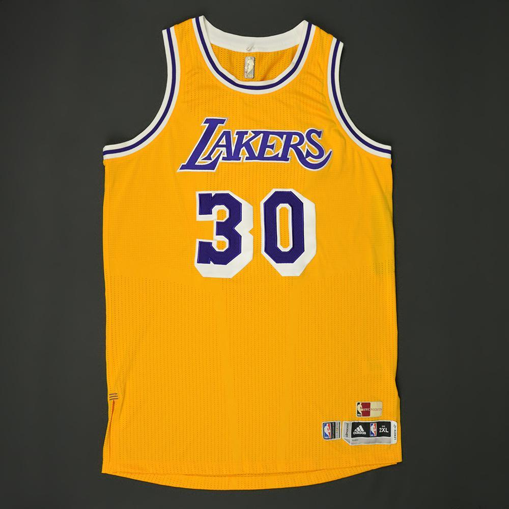 fadd84a44 ... Jersey Julius Randle - Los Angeles Lakers - Game-Worn Hardwood Classics  1987-88 Home Los Angeles Lakers 30 ...