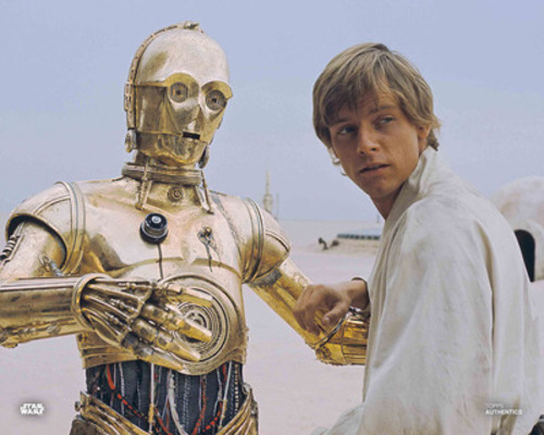 C-3PO and Luke Skywalker