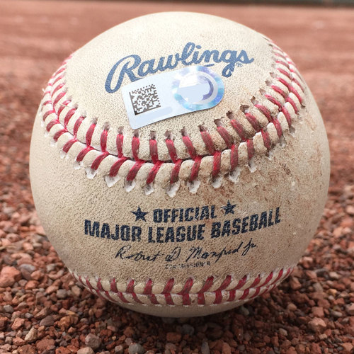 San Francisco Giants - Game-Used Baseball - Ty Blach strikeout of Dinelson Lamet on 7/23/17