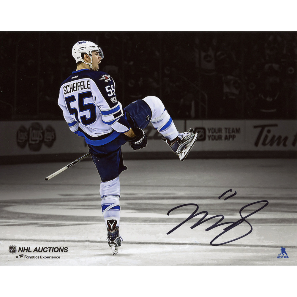 Mark Scheifele Winnipeg Jets Autographed 8
