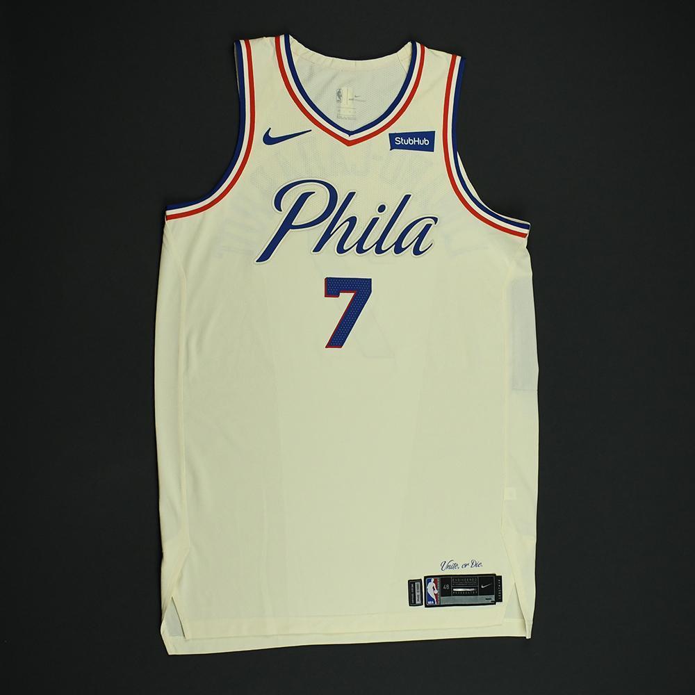 Timothe Luwawu-Cabarrot - Philadelphia 76ers - Game-Issued 'City' Jersey - 2017-18 Season
