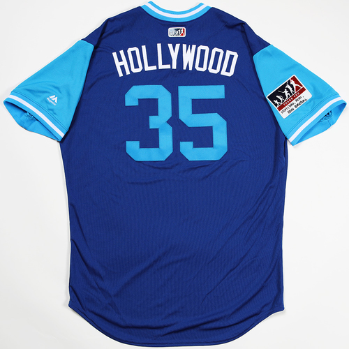 "Photo of Cole ""Hollywood"" Hamels Chicago Cubs Game-Used 2018 Players' Weekend Jersey"