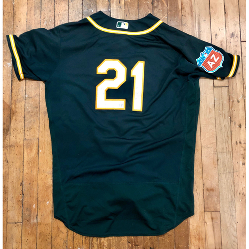 Photo of 2016  Spring Training -  Game-Used Jersey - Stephen Vogt (A's) - Size 48