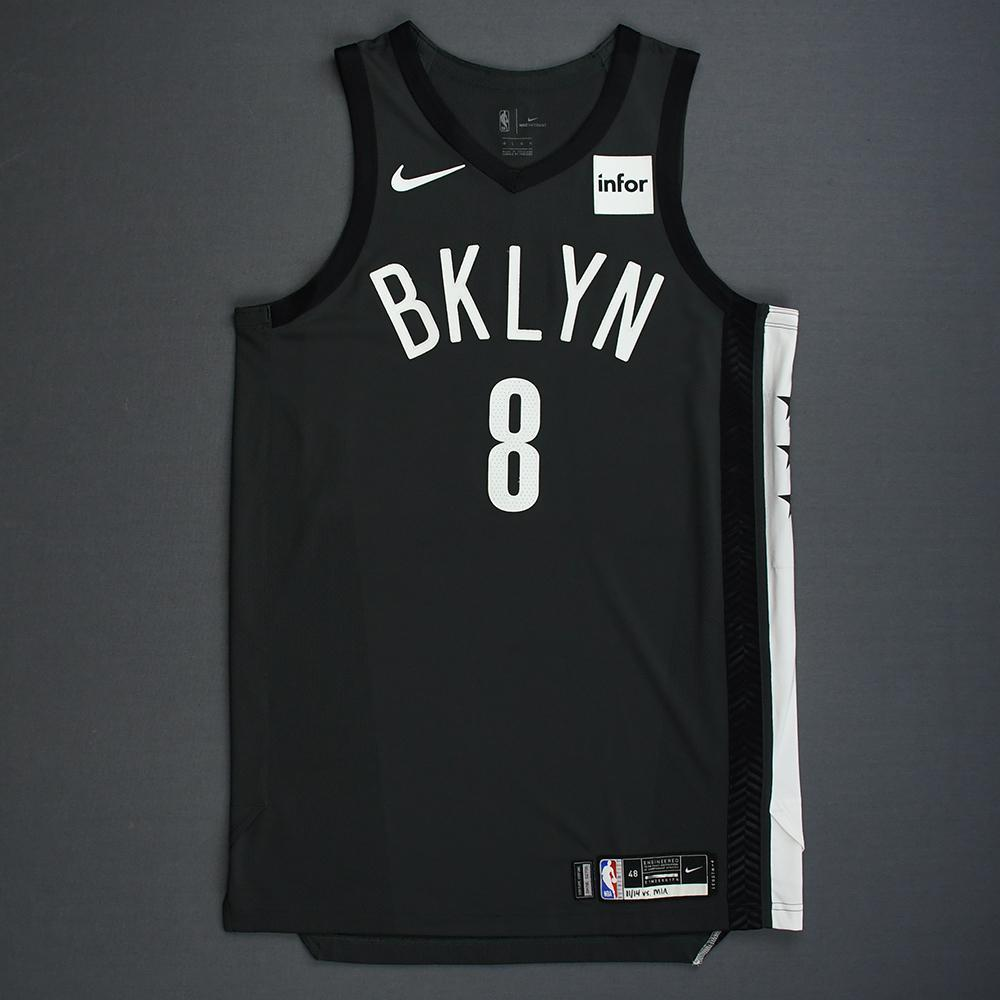 Spencer Dinwiddie - Brooklyn Nets - 2018-19 Season - Game-Worn Gray Statement Edition Jersey