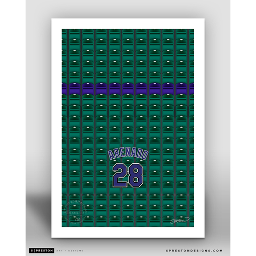 Photo of Minimalist Coors Field Nolan Arenado Player Series Art Print by S. Preston - Limited Edition