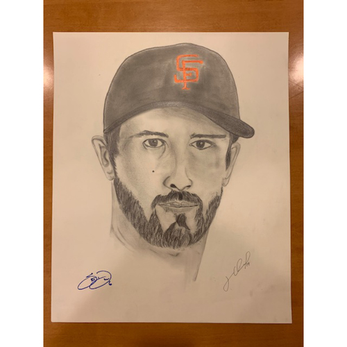 Photo of Giants End of Season Auction: Steven Duggar Autographed Portrait Sketch