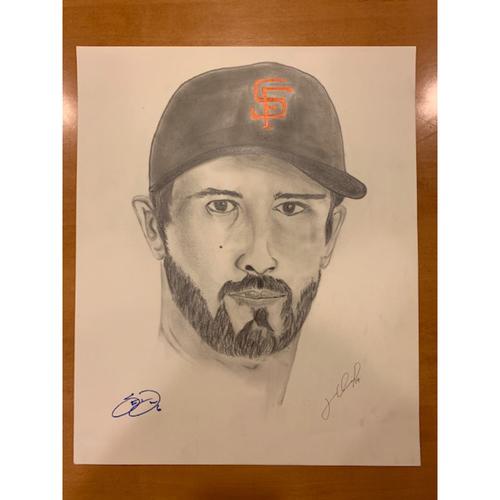 Photo of Giants End of Season Auction: Steven Duggar Autographed Portrait Sketch