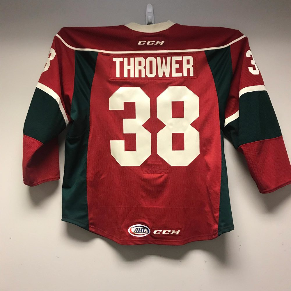 Iowa Wild Jersey Issued to #38 Josh Thrower