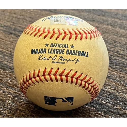 Photo of Game-Used  Baseball - New York Yankees at Baltimore Orioles (9/4/2020)(Game 1)