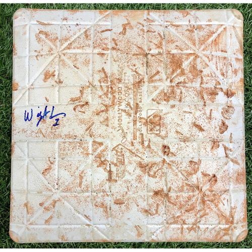 Photo of Rays Baseball Foundation: Game Used Autographed Second Base (Innings 4-6) - Willy Adames MLB Debut, First Career MLB Home Run and Hit - May 22, 2018 v BOS