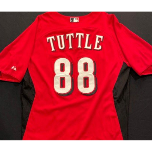 Photo of TUTTLE -- Authentic Reds Jersey -- $1 Jersey Auction -- $5 Shipping -- Size 44 (Not MLB Authenticated)