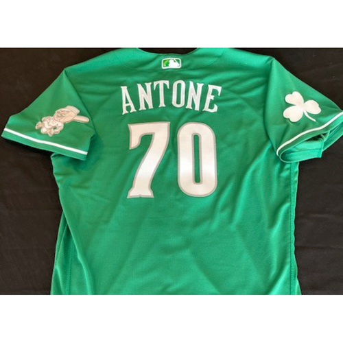 Photo of Tejay Antone -- Team-Issued Jersey -- 2021 St. Patrick's Day Game -- Size 46