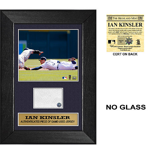 Detroit Tigers Ian Kinsler Mini Plaque with Game Used Jersey Swatch