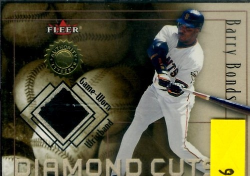 Photo of 2001 Fleer Authority Diamond Cuts Memorabilia #9 Barry Bonds Wristband/100