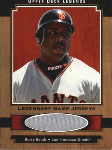 Photo of 2001 Upper Deck Legends Legendary Game Jersey #JBB Barry Bonds
