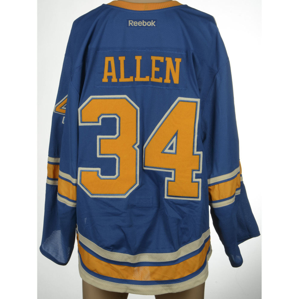 hot sales 69287 d8a5c Jake Allen St. Louis Blues 2017 Winter Classic Game-Used ...