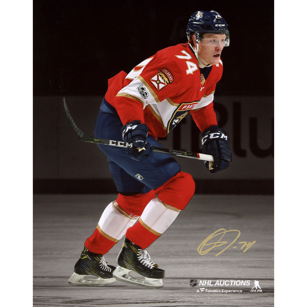 Owen Tippett Florida Panthers Autographed 8